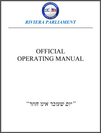 RIVIERA PARLIAMENT OPERATING MANUAL -V2